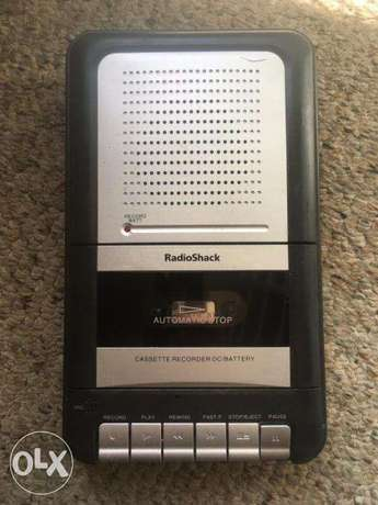 adapter only operated retro tape player/recorder by radio shack