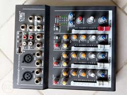 Portable 4 channel usb studio mixer