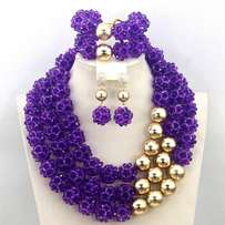 Beads necklace jewelry set