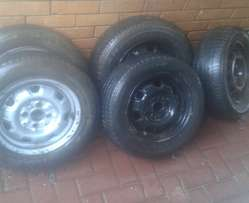 Tyres with steel Rims