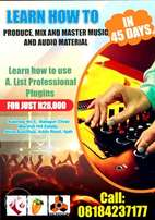 Learn how to produce,mix,master music and audio materials in 45days.
