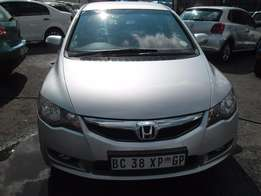 Honda civic 1.8 with leather seat and DvD player, 2008 model, factory
