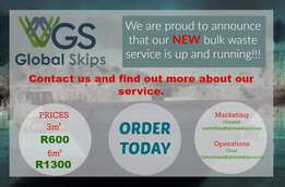 Skips for rent in Pretoria east and surrounding areas