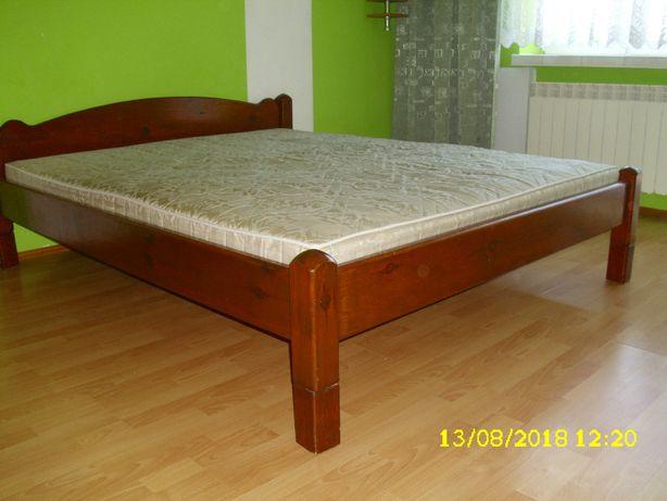 łoże łóżko Małżeńskie Drewniane Lite Drewno Sypialnia