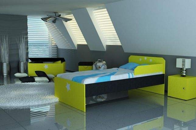 łóżko Dla Dzieckapiękna Kolorystykałóżko Dziecięcesolidne