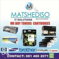 We pay instant cash for toner cartridges
