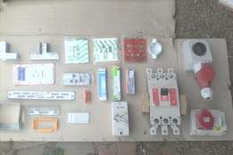 Various electrical and drywall materials
