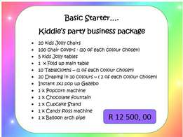 Kids party business for sale from R12500