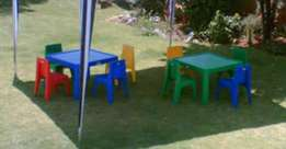 Tables, chairs and linen for hire