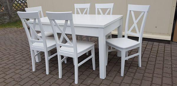 Krzesło Nowoczesne Krzyż Białe Wygodne Do Kuchni Jadalni