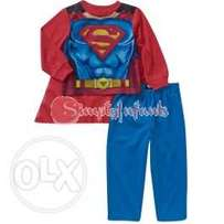 Superman Baby Boy 3-Piece Caped Pajama Set (12 Months)