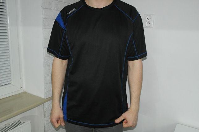 outlet na sprzedaż unikalny design zawsze popularny Hummel czarna koszulka niebieskie wstawki z siateczki XXL ...
