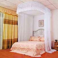 Portable 2 stand mosquito net with metallic stand