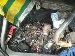Diesel pump and other engine parts 14b and 2b