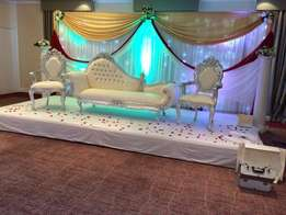 wedding stage and backdrop hire