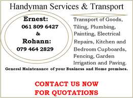 Handyman Services, Transport and Paving