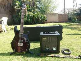 Guitar: Sterling by Music Man JP50 + Amp + Stand + Strap