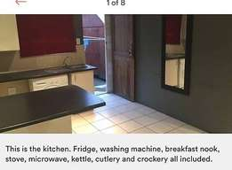 Sandton CBD - Fully furnished bachelor cottage, own entrance R9980