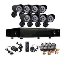 Complete 8 Channel CCTV System with Internet and 3G Phone Viewing. New
