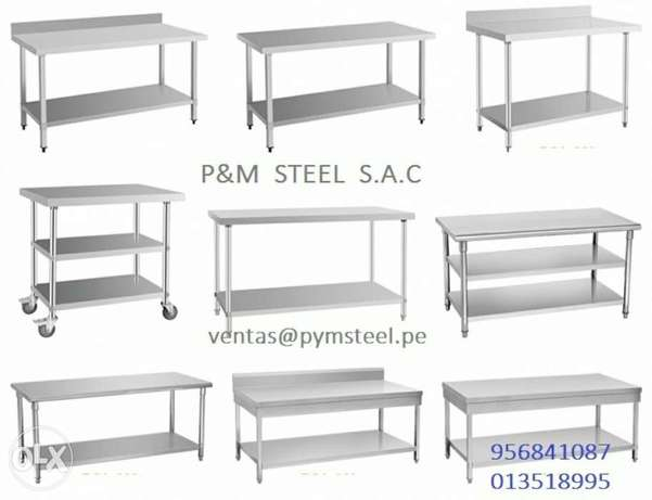 Steel work table sink hood fanticating