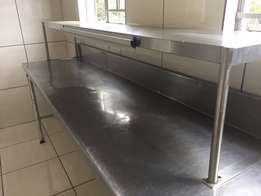 Stainless steel order table top
