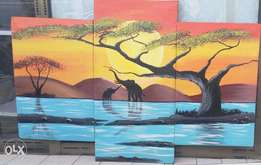 3pcs oil paintings