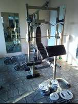 Trogan Power Cage With Bench.