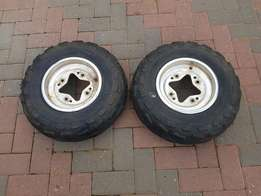 Suzuki quad bike front wheels