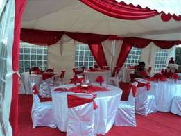 we hire and sell tents,tables,chairs and decor