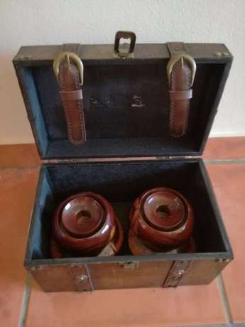 2 Heavy Wooden Candle Holders (Very Sturdy) Great Condition In Holder! Kempton Park - image 1