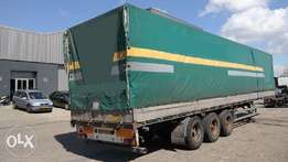 Curtain Side 3 Axle Trailer Brand PACTON