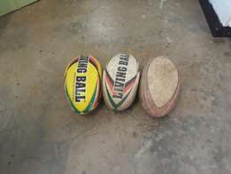 Used rugby balls