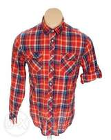 Mossimo Supply Co. Men's Shirt, Red, US Size L - New Without Tags