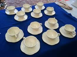 Set of 12 old cups and saucer set.
