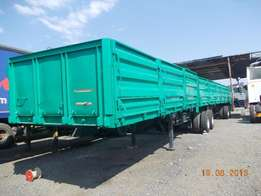 2000 model superlink trailer with drop sides for sale.