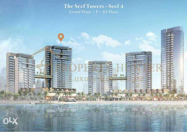 2 Bedroom Apartment For sale In Waterfront Tower in Lusail REF - 1347