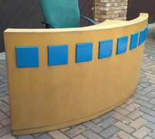 Reception Counter Desk Curved