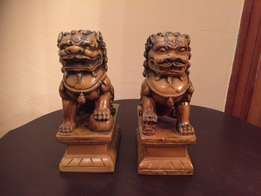 Antique Chinese guardian lions