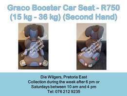 Second hand Graco Blue and Grey Booster Seat - Please call after 5 pm