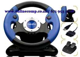 FlashFire 3 in 1 Pro Wheel with Pedals for PS2/PS3/ PC