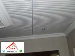Decorated Pvc ceiling; Rhinolite; wooden floors and home improvements