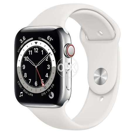 Apple watch 5 stainless steel 44 silver with sim and sport pand