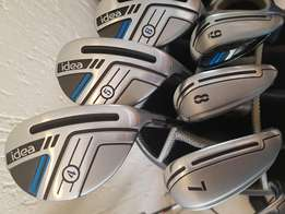 Adams IDEA Velocity slot tech Set As New Hybrids, Irons and Cart Bag