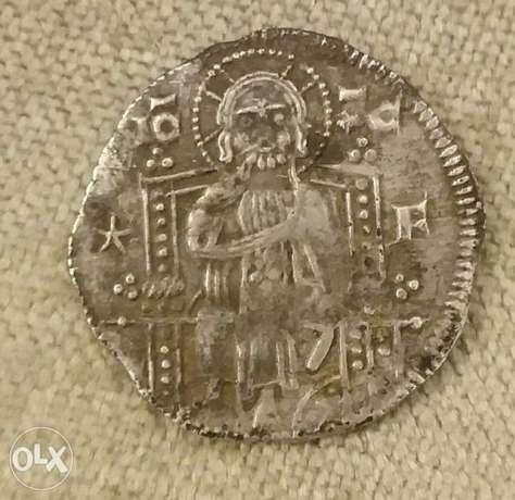 Silver Coin Jesus Christ Medieval of Venice Italy year 1268 AD