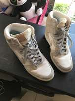 silver Nike shoes WOMENS WEDGES