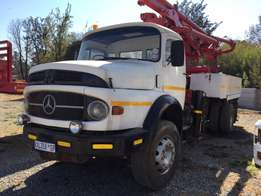 Mercedes Benz with mobile concrete pump