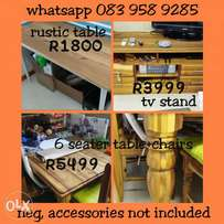 Dinning table, office table and tv stand