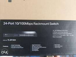 24-port 10/100 mps rackmount switch