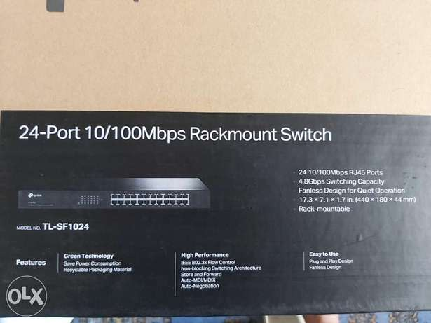 24-port 10/100 mps rackmount switch الرياض -  1