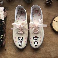 Buty ślubne wygodne malowane trampki custom vans Wrocław